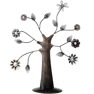 Albero decorativo o portagioie in metallo - Tree of life, 25 x 10 x 28cm