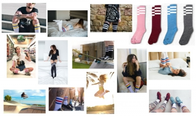 American socks: melange e over-the-knee