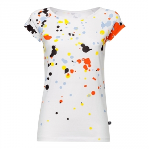 Blur cap sleeve t-shirt  maglietta con macchie colorate  100% cotone biologico fairtrade e GOTS