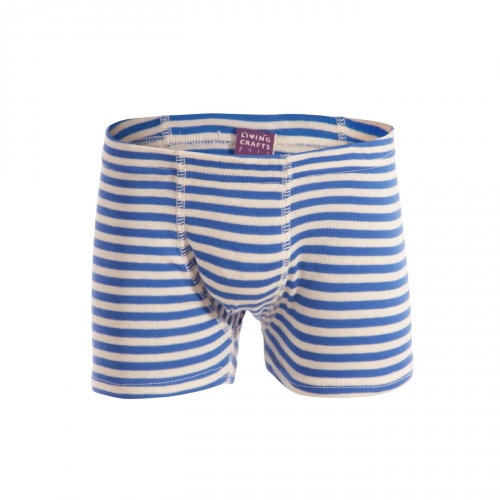 Boxer bambino a righe, 100% cotone bio GOTS.  Made with 100% windpower  Vegan