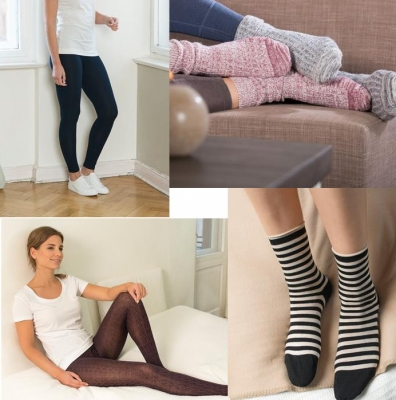 Calze, collant e leggings in tessuti naturali