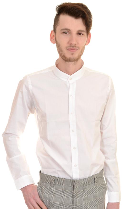 metà prezzo negozio ufficiale nuovo stile di vita Camicia con collo alla coreana Grandad shirt, 100% cotone