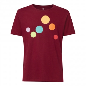 Circles T-Shirt  Maglietta con cerchi colorati  100% cotone biologico fairtrade e GOTS