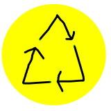 bollino per il riconoscimento dei prodotti riciclati