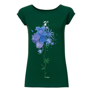 Fellherz For You cap sleeve t-shirt  maglietta con mazzo di fiori, maniche a raglan 100% cotone biologico fairtrade e GOTS