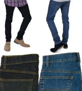 Jeans unisex skinny stretch fit, 98% cotone, 2% elastane