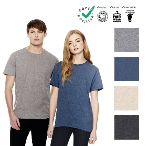 Maglietta unisex melange, 100% cotone biologico  commercio etico  earth positive  climate neutral