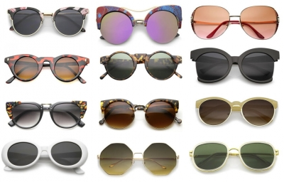 Sunglasses: new styles in