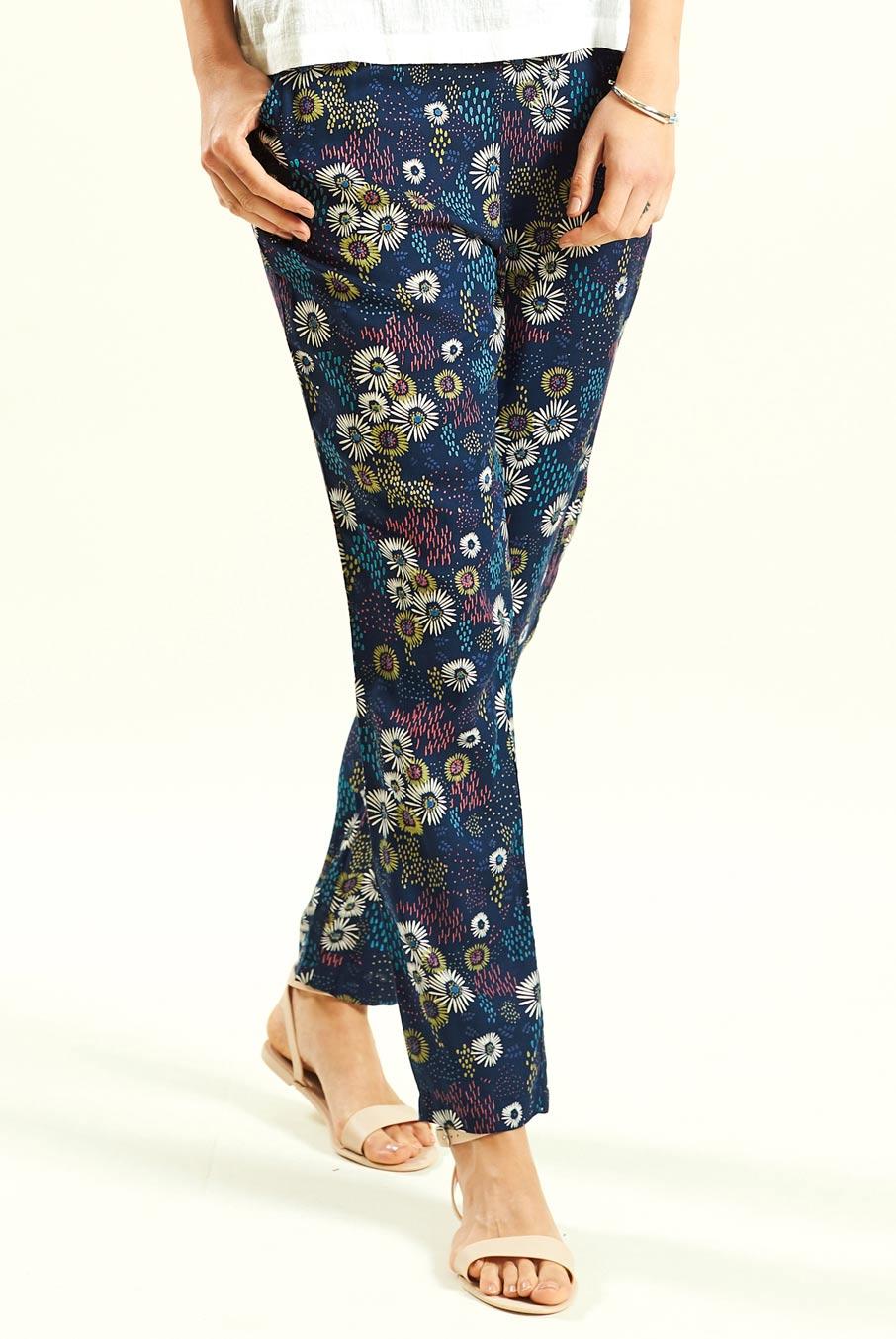 foto ufficiali 93f70 9dc60 Pantaloni fantasia, elastico in vita e tasche laterali, in viscosa Da  commercio etico