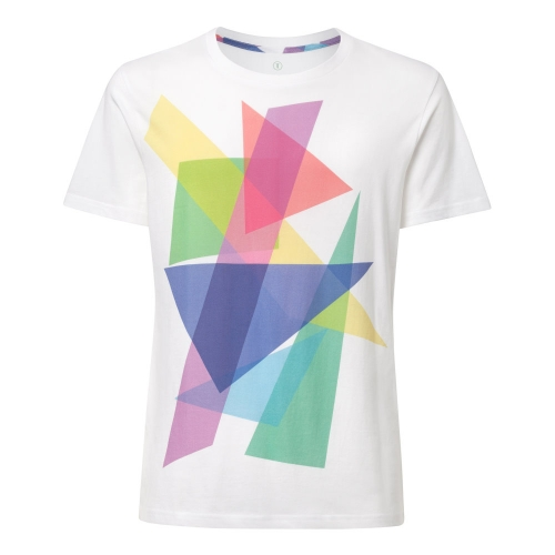 Shaded t-shirt  Maglietta unisex con poligoni colorati sovrapposti  100% cotone biologico fairtrade e GOTS