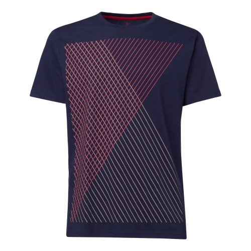 Spacegrid t-shirt  Maglietta con righe oblique  100% cotone biologico fairtrade e GOTS