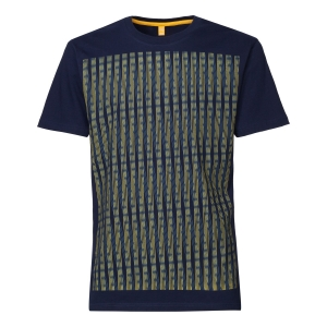 Strings t-shirt  Maglietta con righe incrociate  100% cotone biologico fairtrade e GOTS