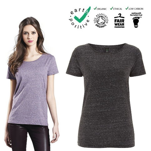 T-shirt donna in maglina di cotone biologico effetto speciale - LADIE'S SPECIAL YARN EFFECT T-SHIRT, 100% ORGANIC COTTON