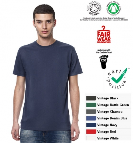 T-shirt lavaggio vintage 100% cotone biologico  earth positive  climate neutral