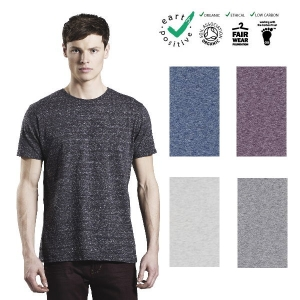 T-shirt uomo in maglina di cotone biologico effetto speciale - MEN'S SPECIAL YARN EFFECT T-SHIRT, 100% ORGANIC COTTON
