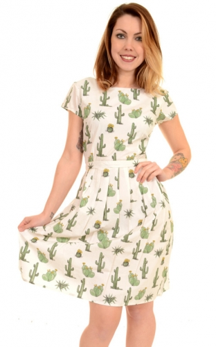 Vestito con cactus Cactus retro dress, 100% cotone