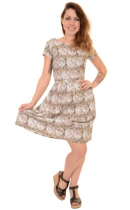Vestito con mappa antica Map retro dress, 100% cotone