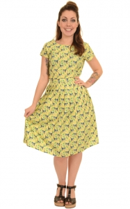 Vestito con scimmiette e banane  100% cotone  Monkeys and bananas dress