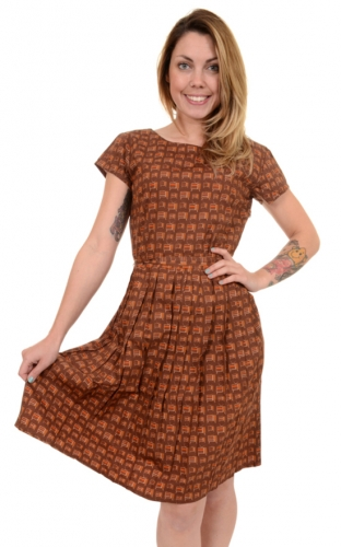 Vestito con televisori TV retro dress, 100% cotone